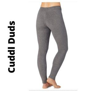 Cuddl Duds Pants Jumpsuits Fleece Stretch Leggings Gray Medium Poshmark